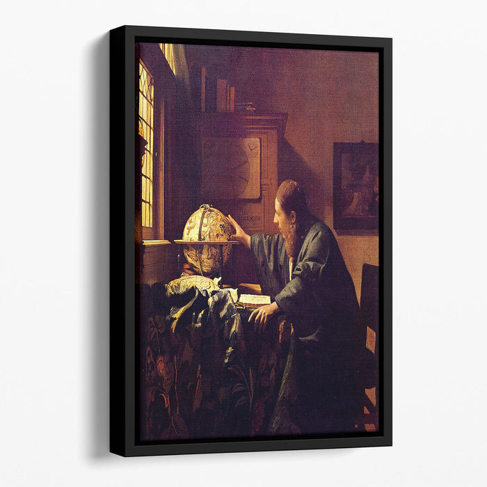 The astronomer by Vermeer Floating Framed Canvas