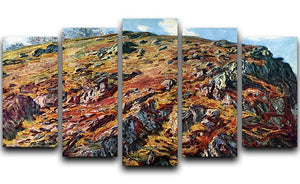 The boulder by Monet 5 Split Panel Canvas  - Canvas Art Rocks - 1