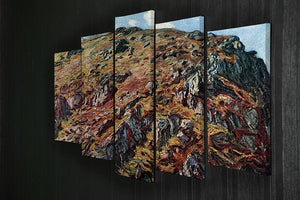 The boulder by Monet 5 Split Panel Canvas - Canvas Art Rocks - 2