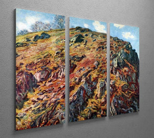 The boulder by Monet Split Panel Canvas Print - Canvas Art Rocks - 4