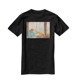 The breakfast room winter morning by Hassam T-Shirt - Canvas Art Rocks - 1