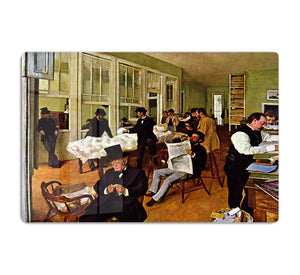The cotton office in New Orleans by Degas HD Metal Print - Canvas Art Rocks - 1