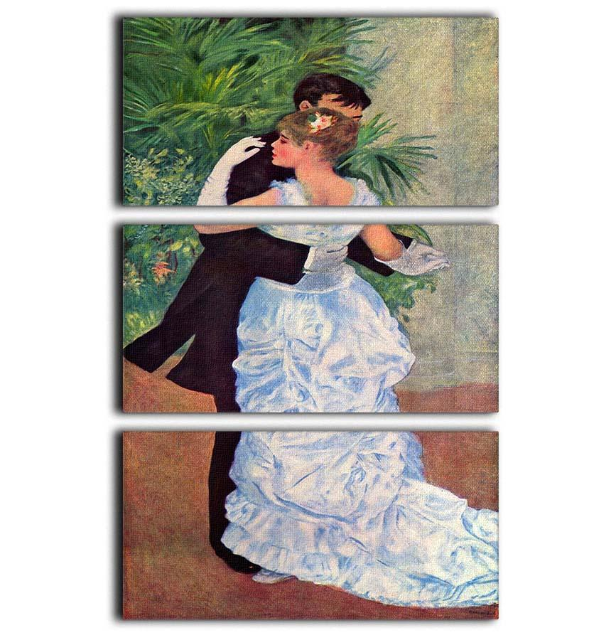 ed9ff8c5b0364 The dance in the city by Renoir 3 Split Panel Canvas Print | Canvas Art  Rocks