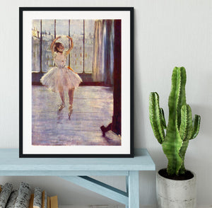 The dancer at the photographer by Degas Framed Print - Canvas Art Rocks - 1
