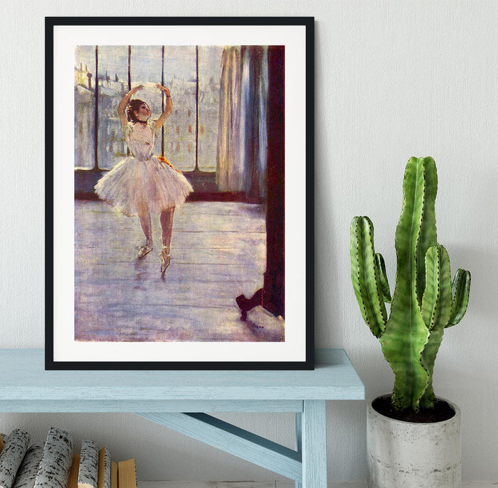The dancer at the photographer by Degas Framed Print
