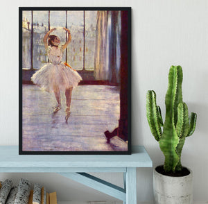 The dancer at the photographer by Degas Framed Print - Canvas Art Rocks - 2