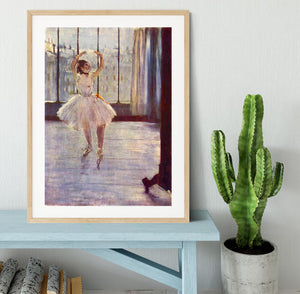 The dancer at the photographer by Degas Framed Print - Canvas Art Rocks - 3