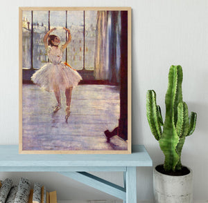 The dancer at the photographer by Degas Framed Print - Canvas Art Rocks - 4