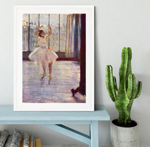 The dancer at the photographer by Degas Framed Print - Canvas Art Rocks - 5