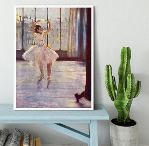 The dancer at the photographer by Degas Framed Print - Canvas Art Rocks -6
