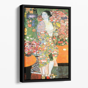 The dancer by Klimt Floating Framed Canvas