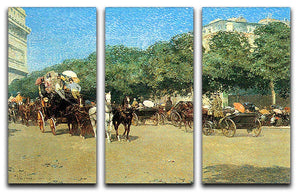 The day of the Grand Prize 1 by Hassam 3 Split Panel Canvas Print - Canvas Art Rocks - 1