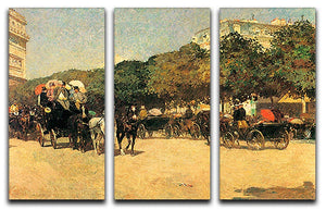 The day of the Grand Prize 2 by Hassam 3 Split Panel Canvas Print - Canvas Art Rocks - 1