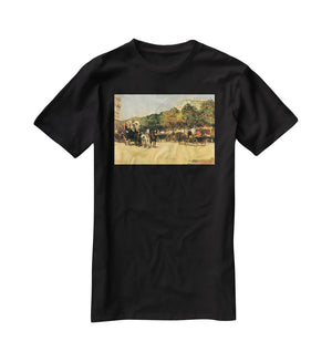 The day of the Grand Prize 2 by Hassam T-Shirt - Canvas Art Rocks - 1