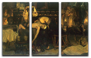 The death of the First Born by Alma Tadema 3 Split Panel Canvas Print - Canvas Art Rocks - 1