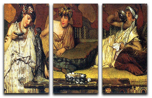The dinner Greek detail by Alma Tadema 3 Split Panel Canvas Print - Canvas Art Rocks - 1