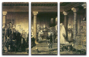 The education of children Clovis by Alma Tadema 3 Split Panel Canvas Print - Canvas Art Rocks - 1