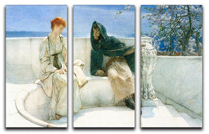The explaination by Alma Tadema 3 Split Panel Canvas Print - Canvas Art Rocks - 1