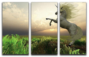 The fabled Unicorn Stag 3 Split Panel Canvas Print - Canvas Art Rocks - 1