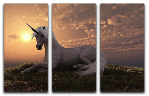 The fabled creature laying 3 Split Panel Canvas Print - Canvas Art Rocks - 1