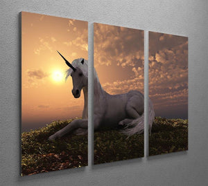 The fabled creature laying 3 Split Panel Canvas Print - Canvas Art Rocks - 2