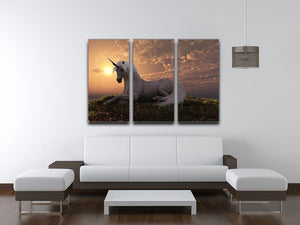 The fabled creature laying 3 Split Panel Canvas Print - Canvas Art Rocks - 3