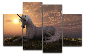 The fabled creature laying 4 Split Panel Canvas  - Canvas Art Rocks - 1