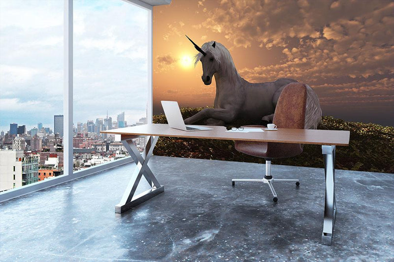 The fabled creature laying Wall Mural Wallpaper - Canvas Art Rocks - 3