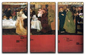 The family picture of Epps panels 4 6 by Alma Tadema 3 Split Panel Canvas Print - Canvas Art Rocks - 1