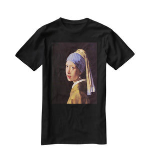 The girl with the pearl earring by Vermeer T-Shirt - Canvas Art Rocks - 1