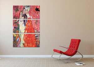 The girlfriends by Klimt 3 Split Panel Canvas Print - Canvas Art Rocks - 2