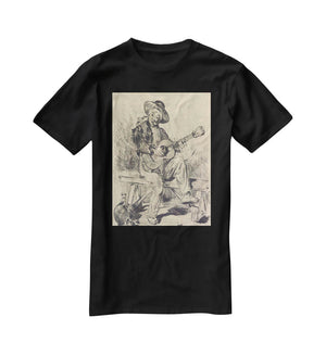 The guitar Player by Manet T-Shirt - Canvas Art Rocks - 1