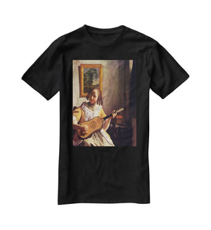 The guitar player by Vermeer T-Shirt - Canvas Art Rocks - 1