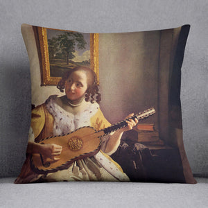 The guitar player by Vermeer Cushion