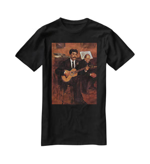 The guitarist Pagans and Monsieur Degas by Manet T-Shirt - Canvas Art Rocks - 1