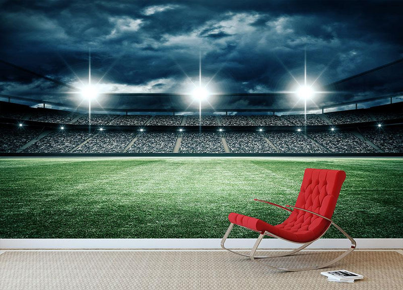 The imaginary soccer stadium Wall Mural Wallpaper - Canvas Art Rocks - 1