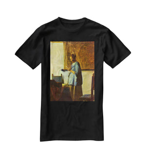 The letter reader by Vermeer T-Shirt - Canvas Art Rocks - 1