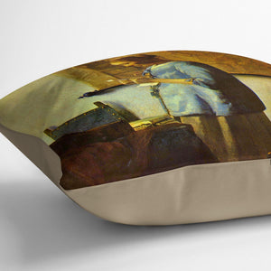 The letter reader by Vermeer Cushion