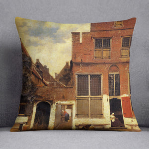 The little street by Vermeer Cushion