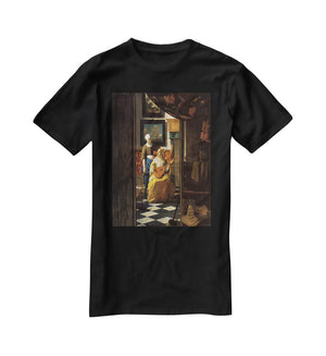 The love letter by Vermeer T-Shirt - Canvas Art Rocks - 1