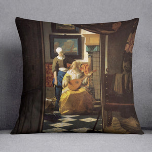The love letter by Vermeer Cushion