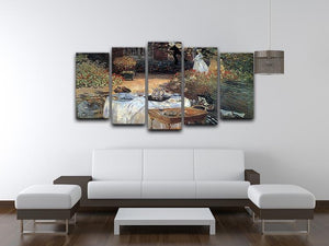 The lunch 2 by Monet 5 Split Panel Canvas - Canvas Art Rocks - 3
