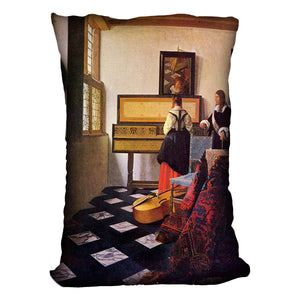 The music lesson by Vermeer Cushion