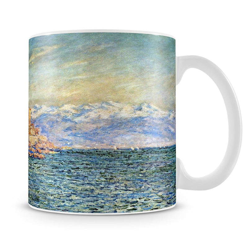 The old Fort in Antibes by Monet Mug - Canvas Art Rocks - 4