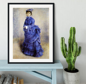 The parisian by Renoir Framed Print - Canvas Art Rocks - 1