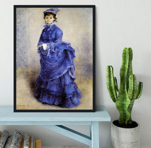 The parisian by Renoir Framed Print - Canvas Art Rocks - 2