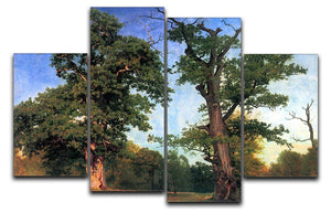 The pioneers of forests by Bierstadt 4 Split Panel Canvas - Canvas Art Rocks - 1