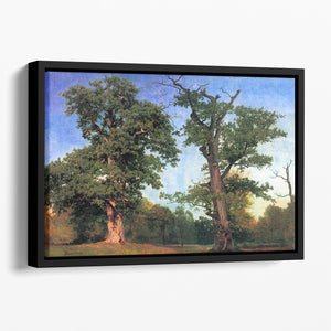 The pioneers of forests by Bierstadt Floating Framed Canvas - Canvas Art Rocks - 1