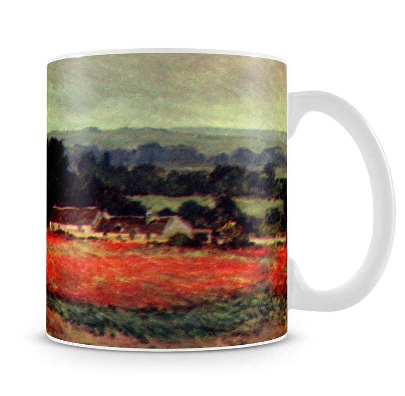 The poppy Blumenfeld The barn by Monet Mug - Canvas Art Rocks - 4