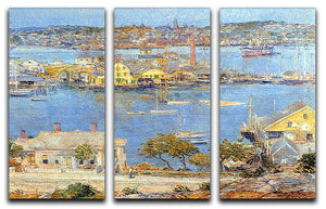 The port of Gloucester 1 by Hassam 3 Split Panel Canvas Print - Canvas Art Rocks - 1
